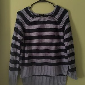 Rue21 High-low striped sweater